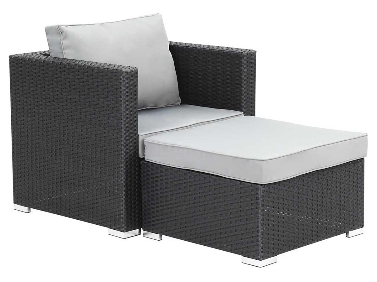 fauteuil relax de jardin en resine tressee venus atlanta noir 59818 90198