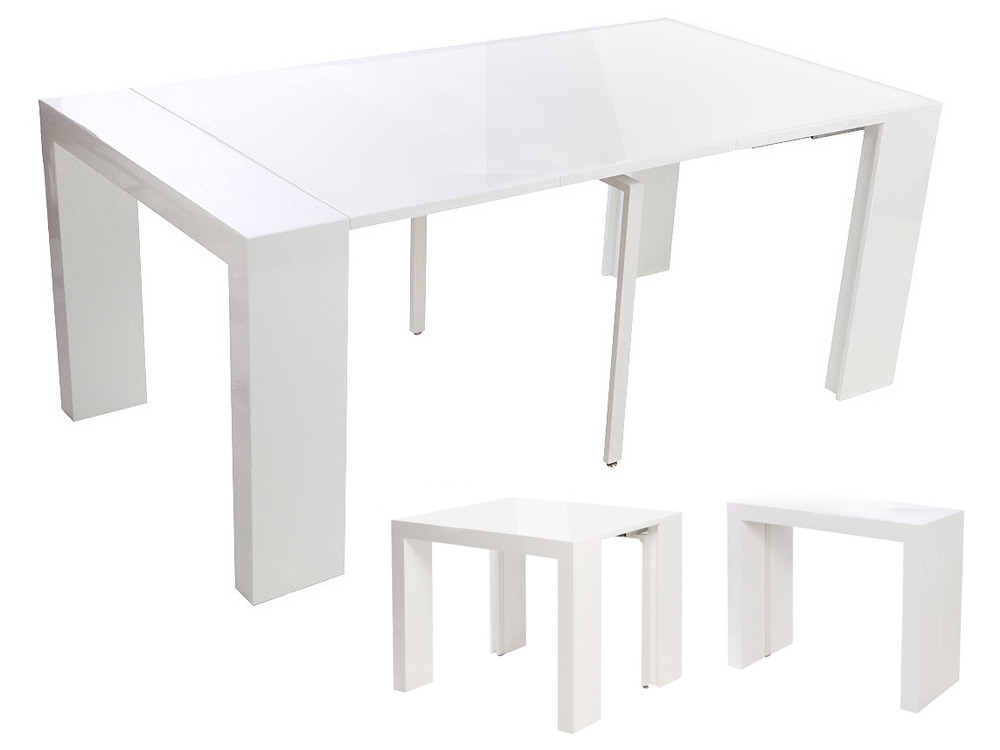 table console extensible dina blanc