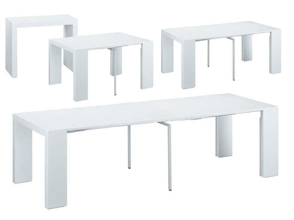 Table Console Extensible Elsa 50 300 X 94 X 75 Cm Blanc 66743 68046