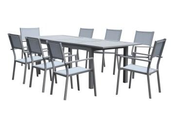 Salon De Jardin Alu Bois Composite | Emejing Table Salon De Jardin ...