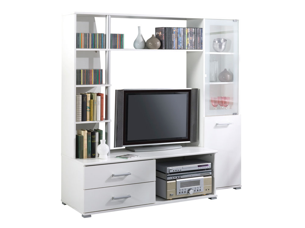 meuble tv salt mdf blanc perle 2