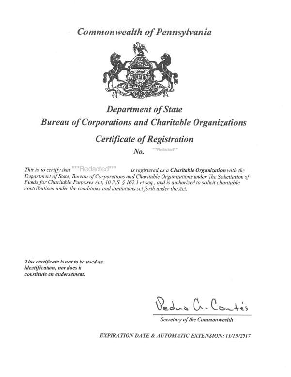 Pennsylvania Fundraising Registration  Harbor Compliance