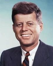 US President John F. Kennedy