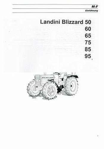 Betriebsanleitung Landini Blizzard 50, 60, 65,75. 85,95