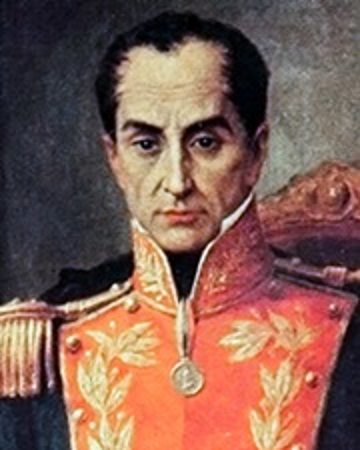 El más grande de los libertadores de América Simon Bolivar