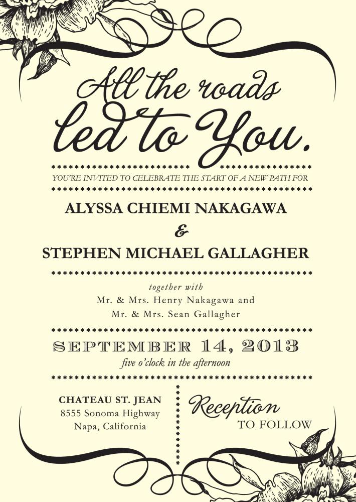 Invitation Sayings Weddings