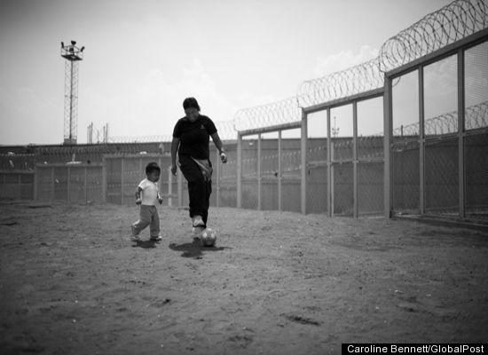 The inmates at the Santa Martha Acatitla female penitentiary in Mexico D.F.
