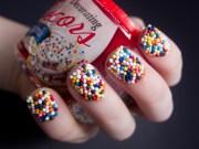 diy nail ideas cupcake sprinkles