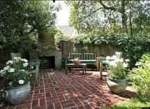 Tudor Style Homes with Patio