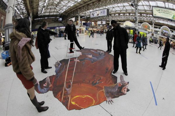 3d Street Art 13 Amazing Optical Illusions Created Chalk Artists Huffpost