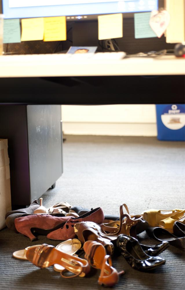 Shoe Storage Under Your Desk Yeah Were Guilty PHOTOS