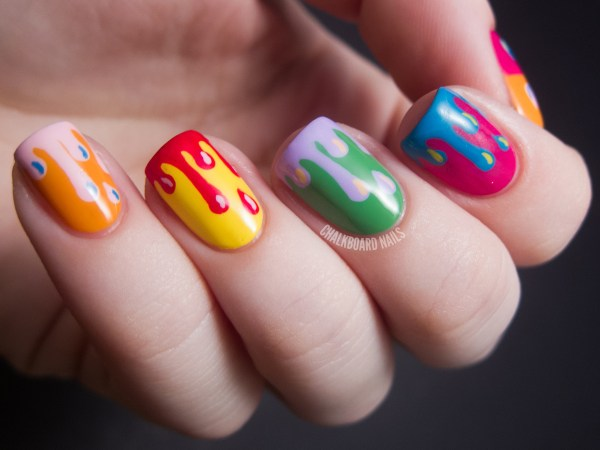 Diy Nail Ideas Paint Drip Art And Of Manicures Weekend Huffpost