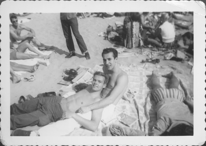 Pat Rocco Relaxing On The Beach With A Friend - Undated