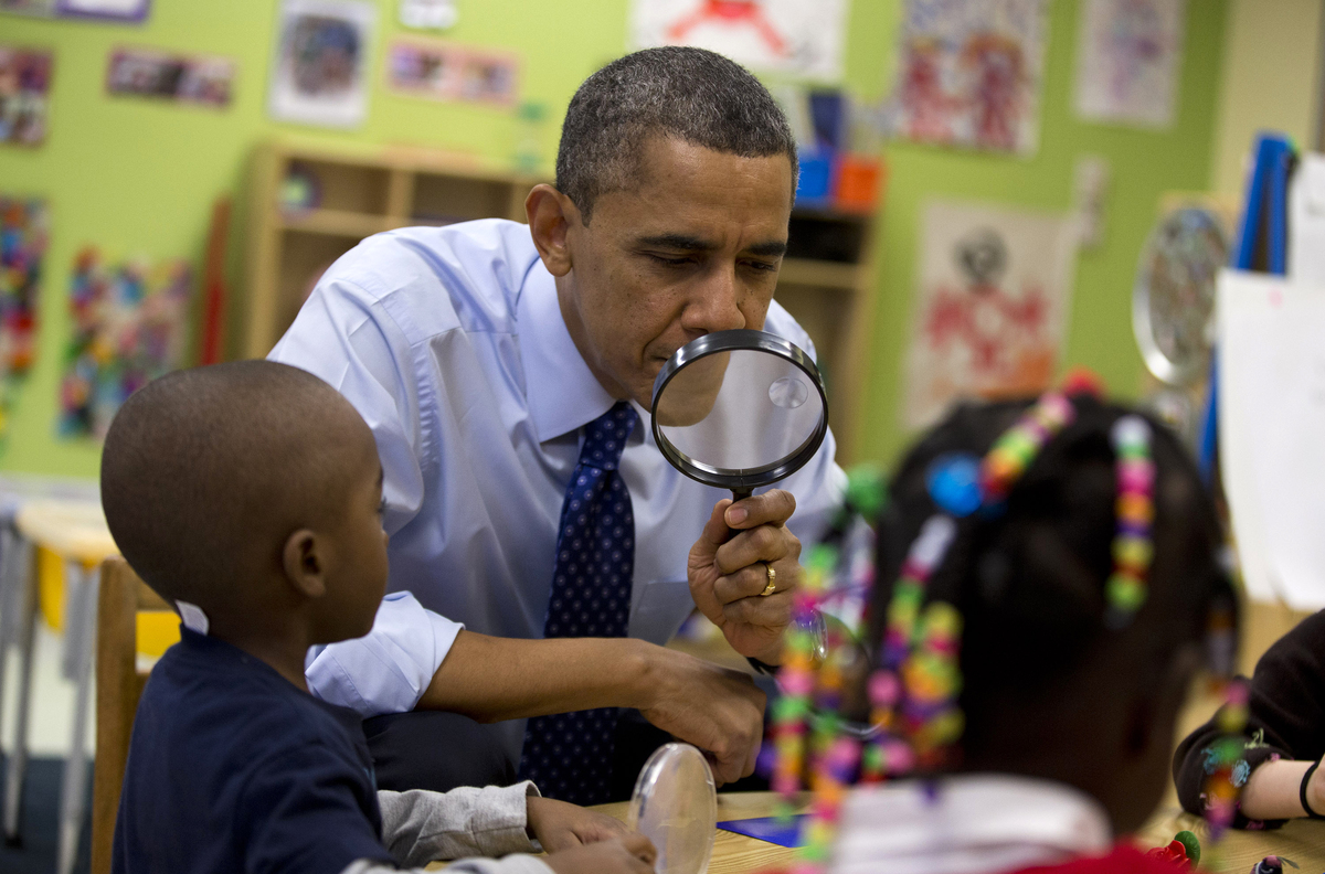 Obama Preschool Photos May Make Your Day Regardless Of Your Early Education Stance