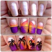 tropical nail art summer season