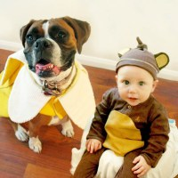 Adorable Boy And His Dog Coordinate Halloween Costumes ...