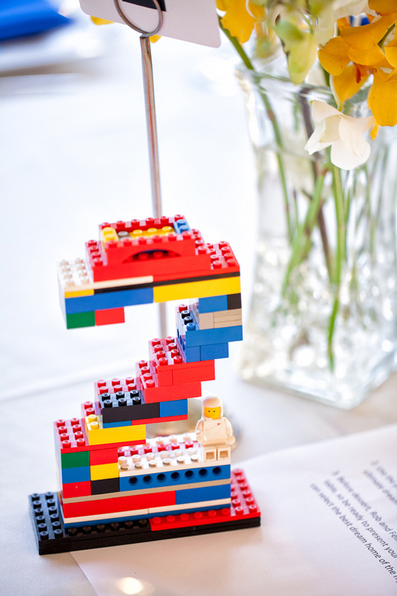 Fun Wedding Idea- lego wedding table numbers