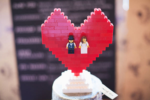 Fun Wedding Idea- lego wedding cake toppers