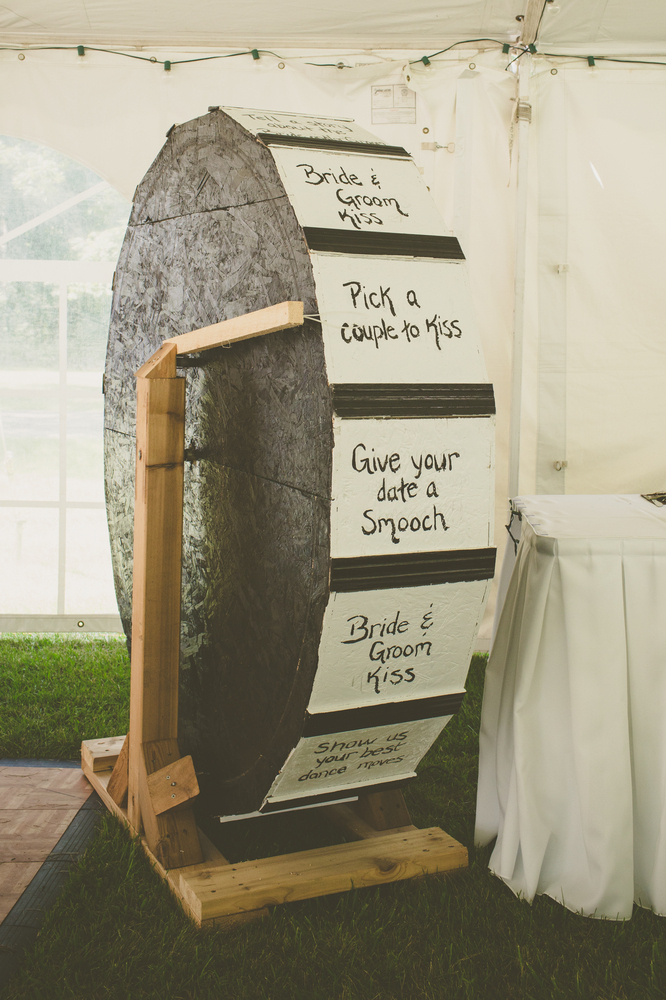 Fun Wedding Idea- wheel of fun