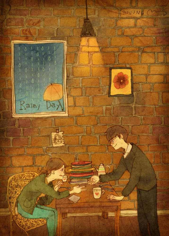Cartoon Couple Wallpaper With Quotes Artist S Illustrations Remind Us Love Is The Little Things