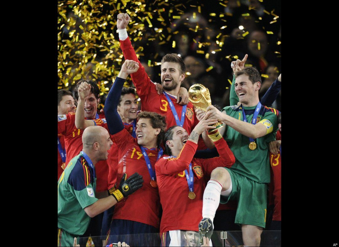 Spanish World Cup victory courtesy of Huffington Post