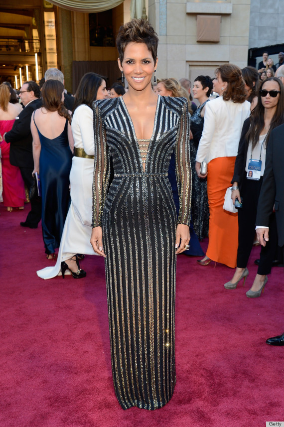 halle berry oscar dress 2013