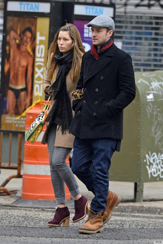 Jessica Biel Justin Timberlake Make New York City Their Runway PHOTOS  HuffPost