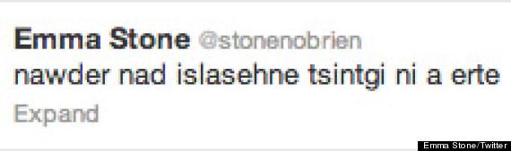 emma stone tweets