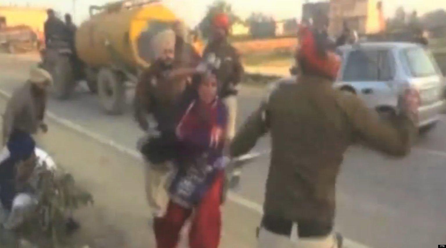 Harbinder Kaur Indian Woman Beaten By Police In Tarn Taran Sparking Outrage VIDEO  HuffPost