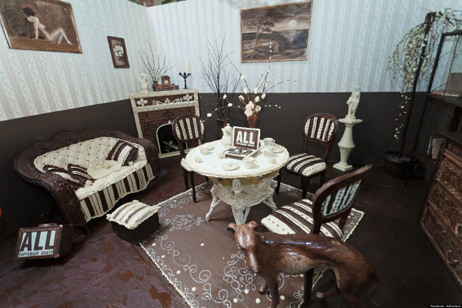 Chocolate Room Sculptor Elena Kliment Creates Lounge Made Entirely Of Confection PHOTOS  HuffPost