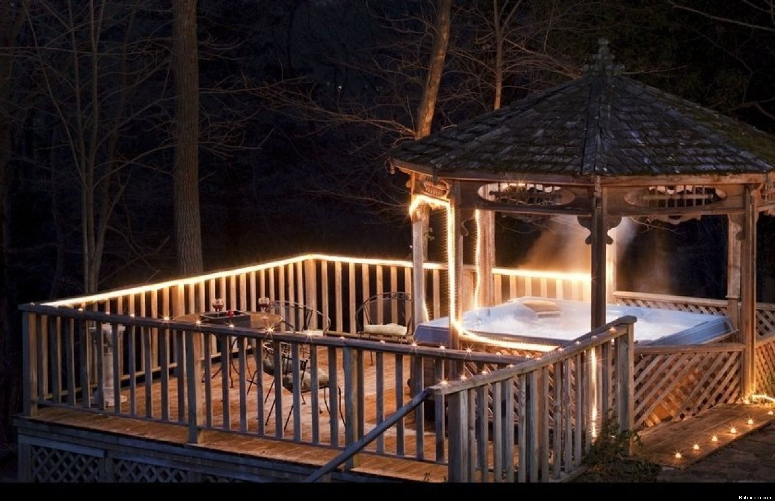 Open Air Hot Tubs For Cold Nights At A BB PHOTOS