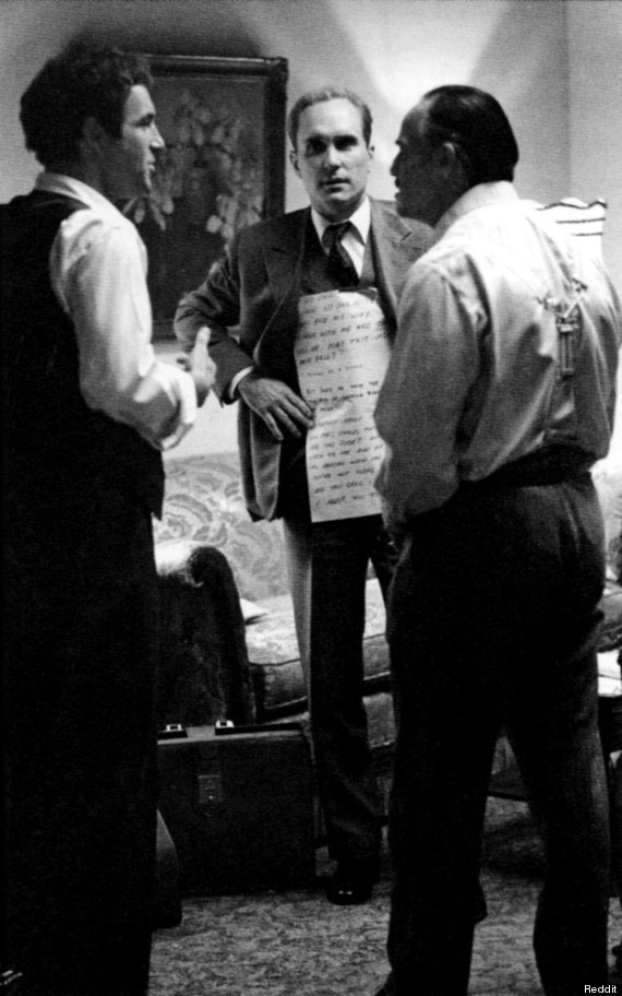 marlon brando godfather cue cards
