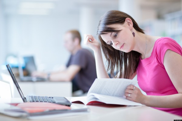 Law School Student Studying