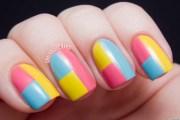 diy nail art colorblock manicure