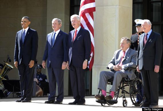 bush library presidents