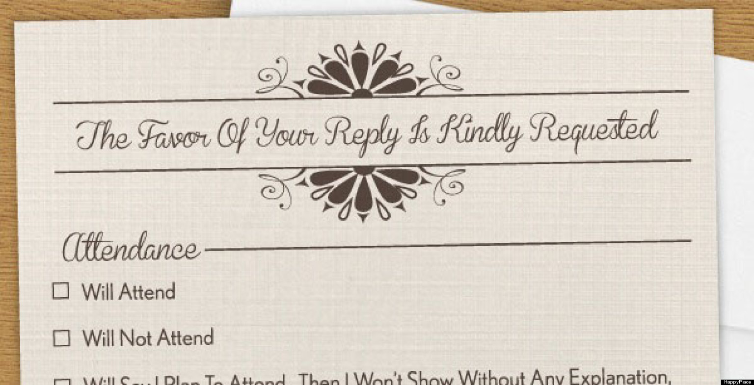 Humorous Wedding Invitations