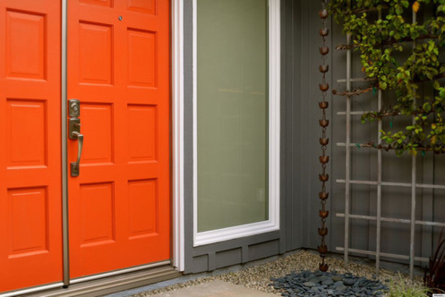 Puertas Pintadas Para Dar Color Tu Casa Doors And Entrances Pinterest House  Also Rh