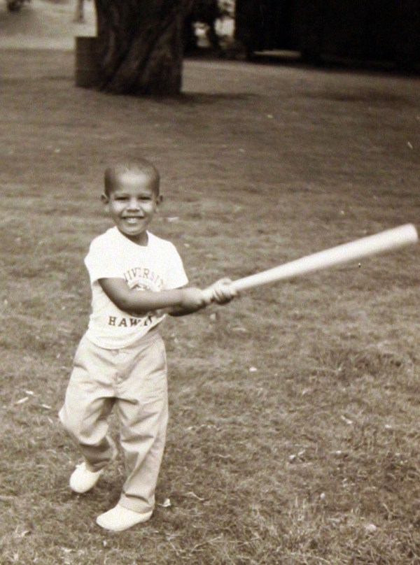 Young Obama Shows Off His Baseball Swing PHOTO HuffPost