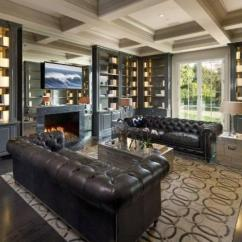 Decorating With Dark Leather Sofa Boardwalk A Gorgeous Home Library Would Turn Anyone Into Bookworm ...
