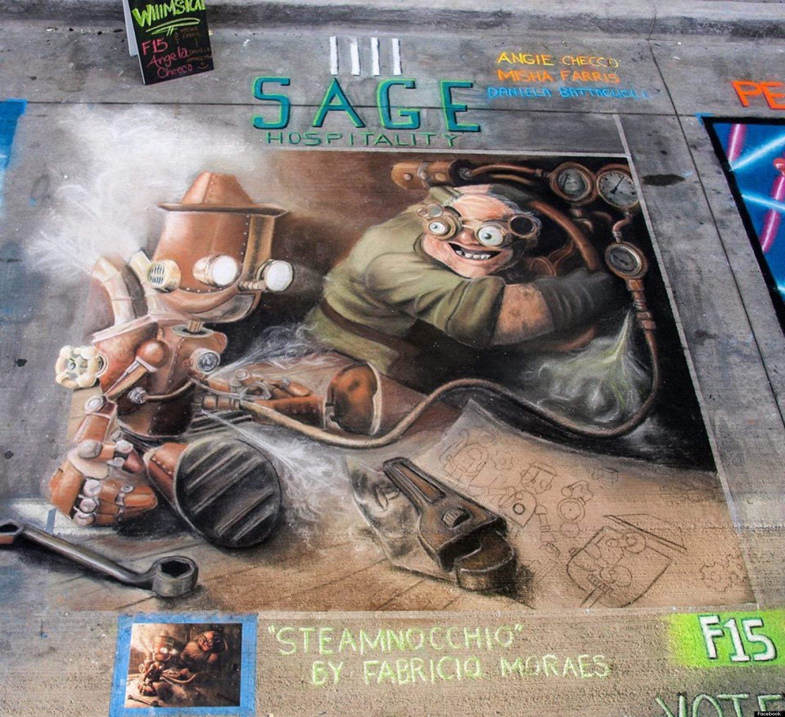 Denver Chalk Art Festival Draws Thousands To Larimer