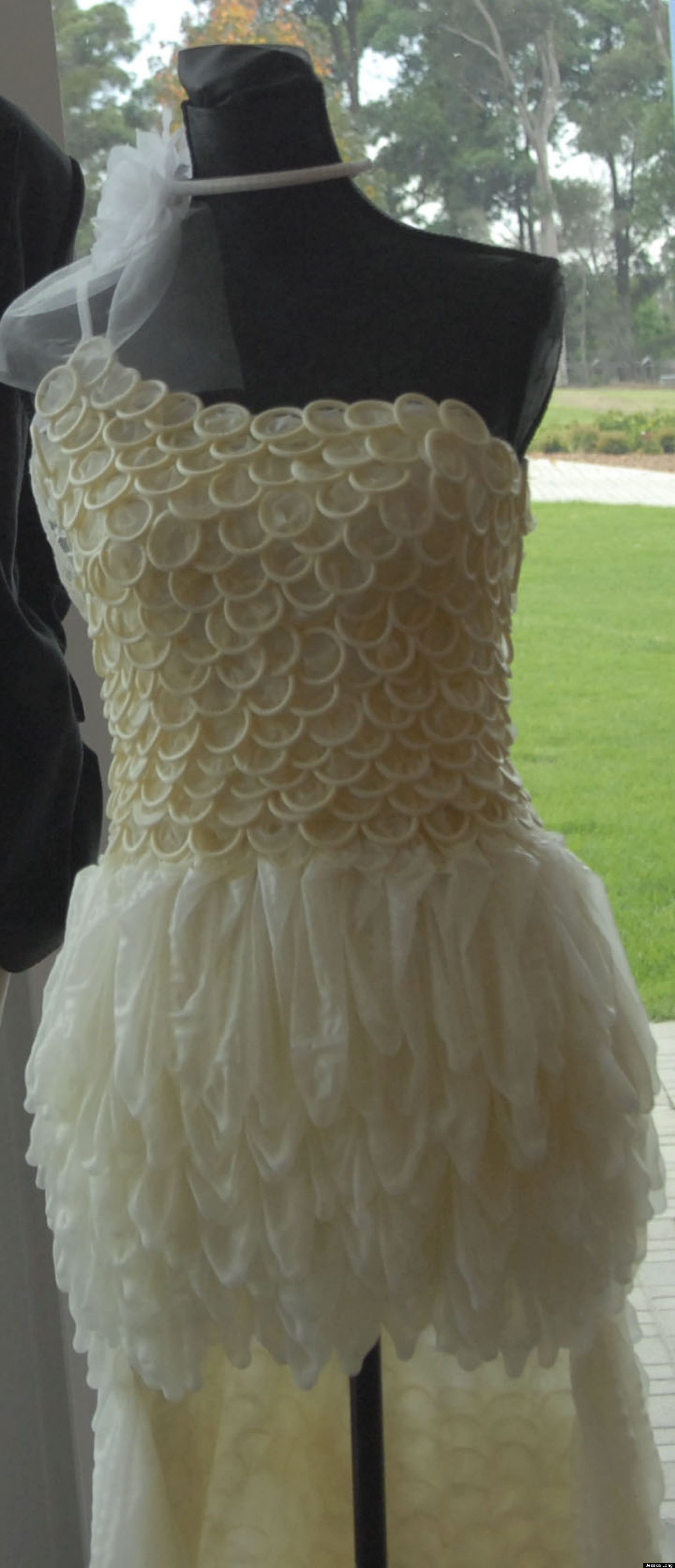 Condom Dress Wedding Gown Created For Chlamydia Awareness