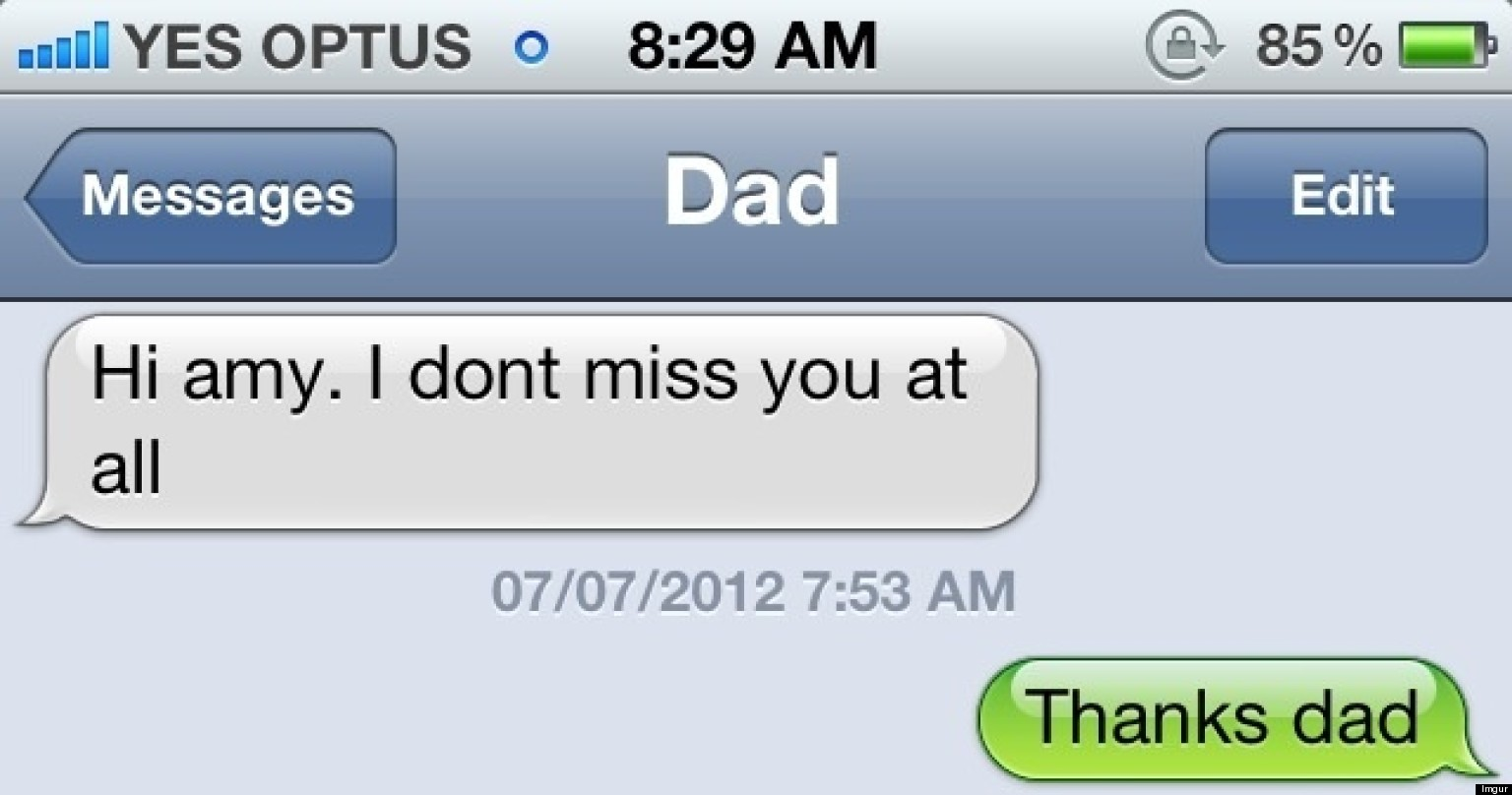 Dad And Daughter Text Message