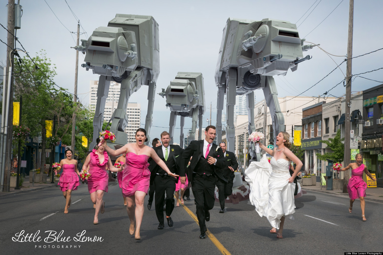 Star Wars Wedding Photo Shows Bridal Party Getting Chased By ATAT Walkers  HuffPost