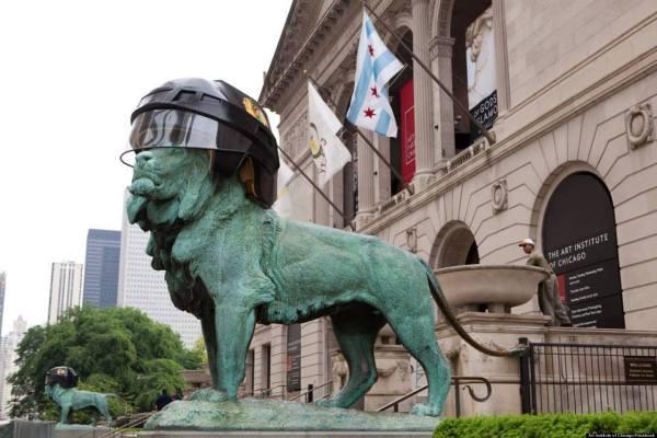 Chicago Art Institute Lion