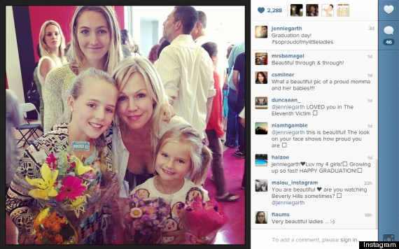 jennie garth celebrates