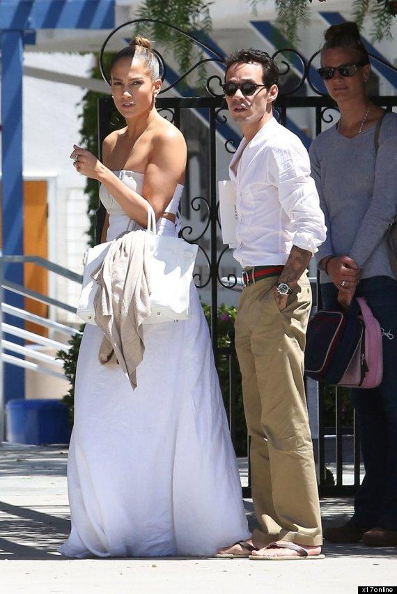 Jennifer Lopez Dons WeddingLike Dress For Reunion With Ex