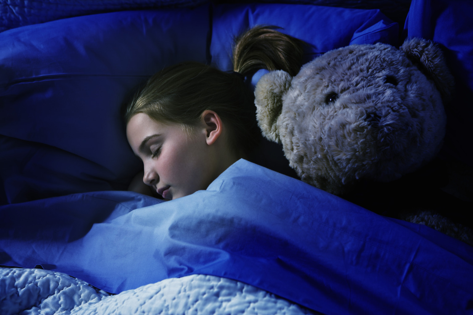 Image result for parent looking at child sleeping in a bed