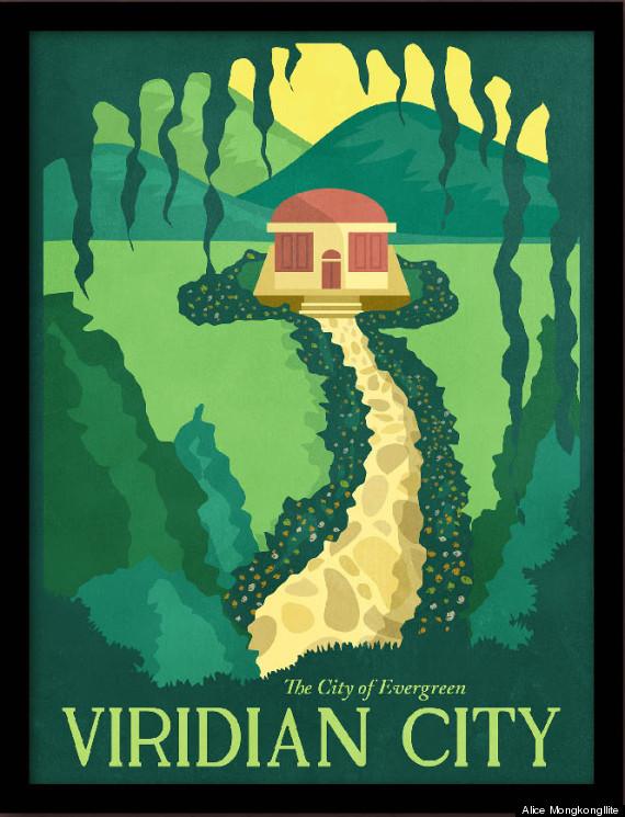 pokémon travel posters will