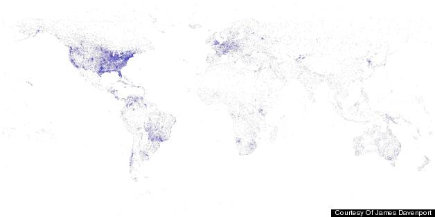 James Davenport Creates World Map Based On Airports