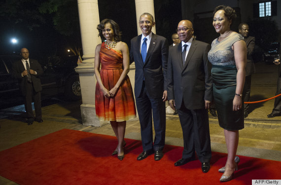 Michelle Obamas Naeem Khan Dress Is Pleated Perfection